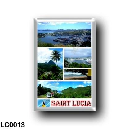 LC0013 America - Saint Lucia - Mosaic