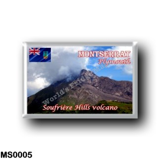 MS0005 America - Montserrat - Plymouth - Soufriere Hills Volcano