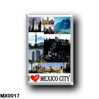 MX0017 America - Mexico - Mexico City I Love