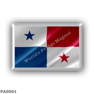 PA0001 America - Panama - Panamanian flag - Waving