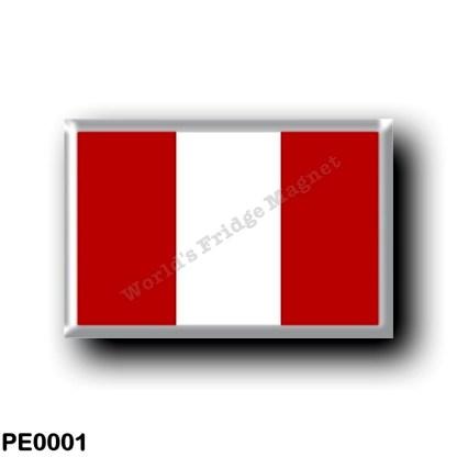 PE0001 America - Peru - Peruvian flag