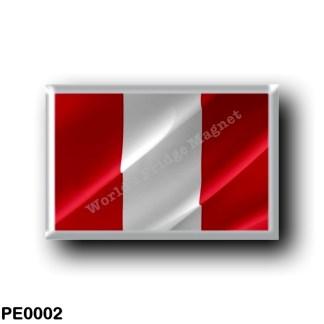 PE0002 America - Peru - Peruvian flag - Waving