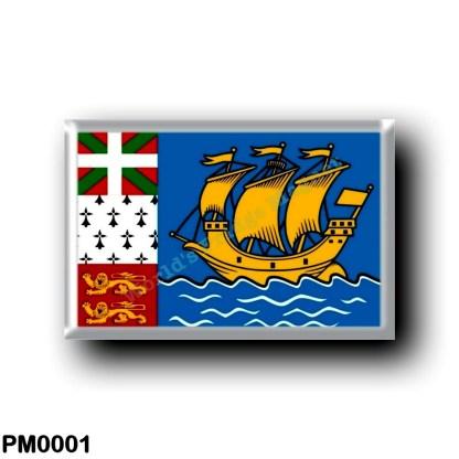 PM0001 America - Saint Pierre and Miquelon - Flag