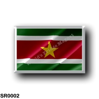 SR0002 America - Suriname - Flag Waving