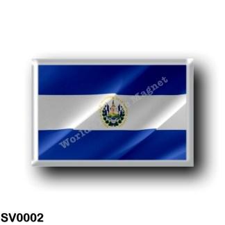 SV0002 America - el Salvador - Flag Waving