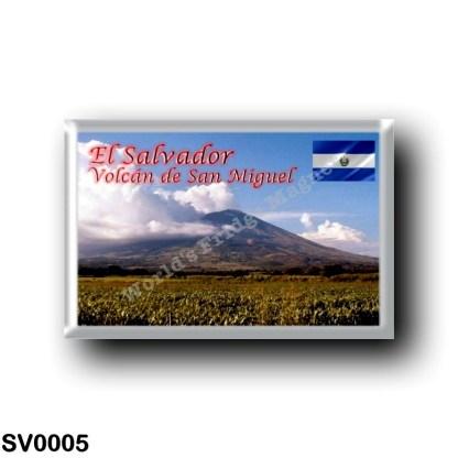 SV0005 America - el Salvador - Volcán de San Miguel
