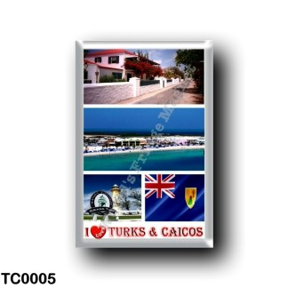 TC0005 America - Turks and Caicos Islands - I Love