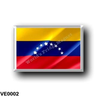VE0002 America - Venezuela - Venezuelan Flag - Waving