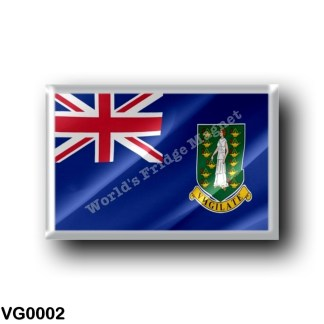 VG0002 America - British Virgin Islands - Flag Waving