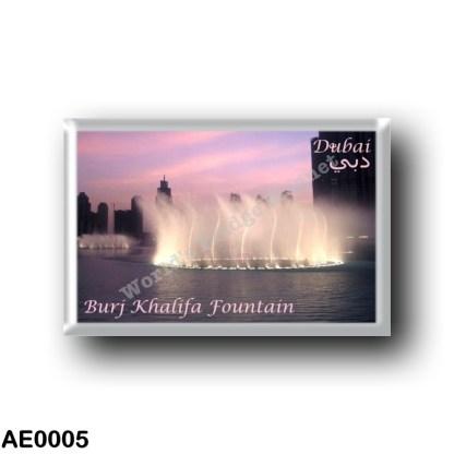 AE0005 Asia - United Arab Emirates - Dubai - Burj Khalifa Fountain