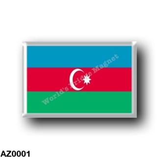 AZ0001 Asia - Azerbaijan - Flag
