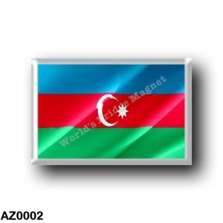 AZ0002 Asia - Azerbaijan - Flag Waving