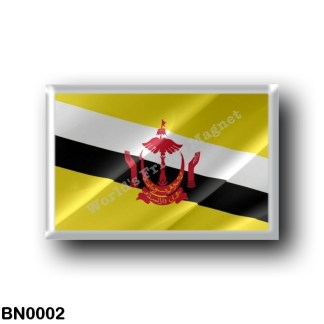 BN0002 Asia - Brunei - Flag Waving