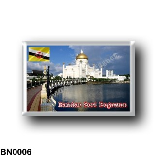 BN0006 Asia - Brunei - Mosque Omar Ali Saifuddien