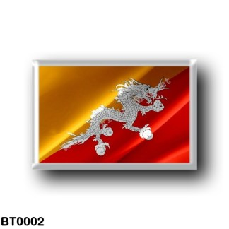 BT0002 Asia - Bhutan - Flag Waving