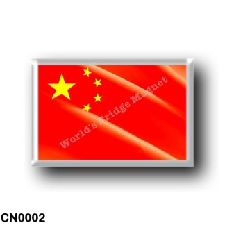 CN0002 Asia - China - Chinese flag waving