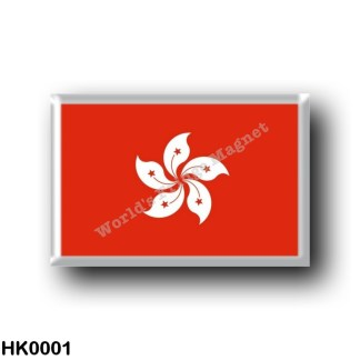 HK0001 Asia - Hong Kong - Flag