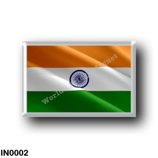 IN0002 Asia - India - Flag Waving
