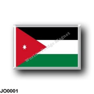 JO0001 Asia - Jordan - Jordan flag