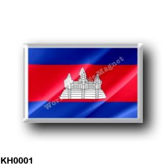 KH0001 Asia - Cambodia - Flag Waving