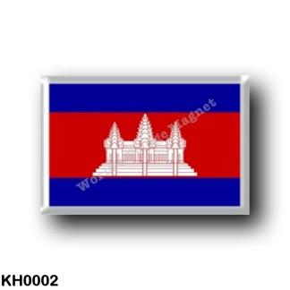 KH0002 Asia - Cambodia - Flag