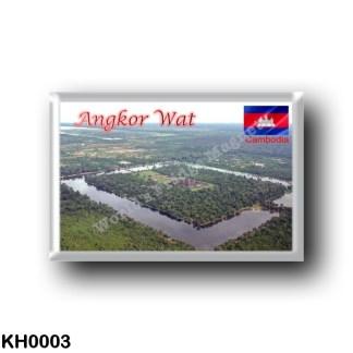 KH0003 Asia - Cambodia - Angkor Wat - Aerial View