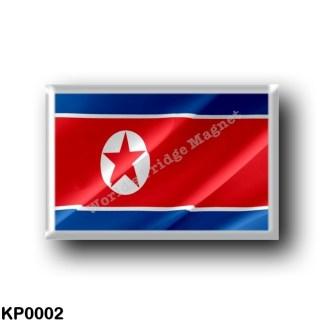 KP0002 Asia - North Korea - Flag Waving