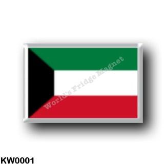 KW0001 Asia - Kuwait - Flag