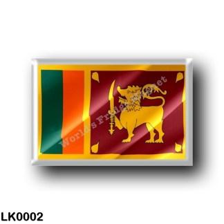 LK0002 Asia - Sri Lanka - Flag Waving