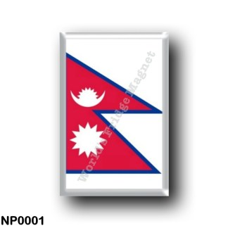 NP0001 Asia - Nepal - Flag