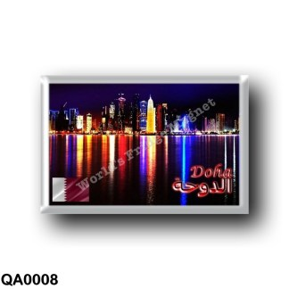 QA0008 Asia - Qatar - Doha By Night - Skyline
