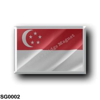 SG0002 Asia - Singapore - Flag Waving