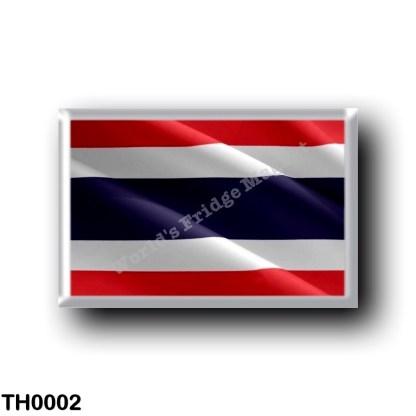 TH0002 Asia - Thailand - Flag Waving