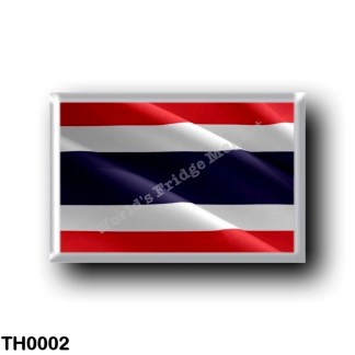 TH0002 Asia - Thailand - Flag Waving