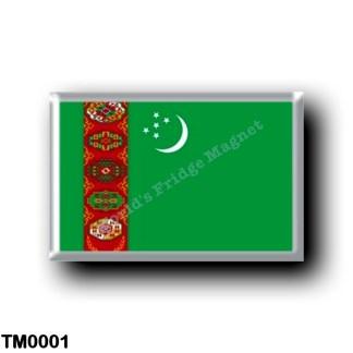 TM0001 Asia - Turkmenistan - Flag