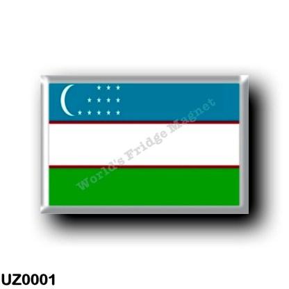 UZ0001 Asia - Uzbekistan - Flag