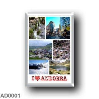 AD0001 Europe - Andorra - I Love