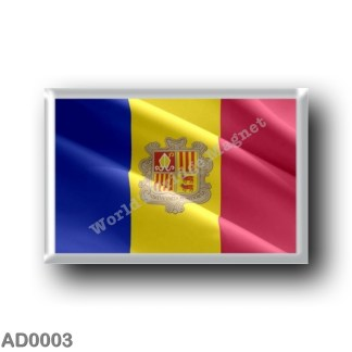 AD0003 Europe - Andorra - Flag waving