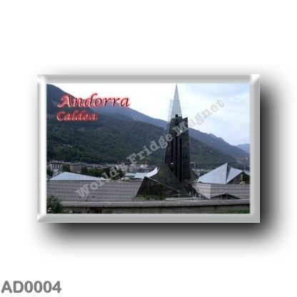 AD0004 Europe - Andorra - Caldea - Panorama Balneario