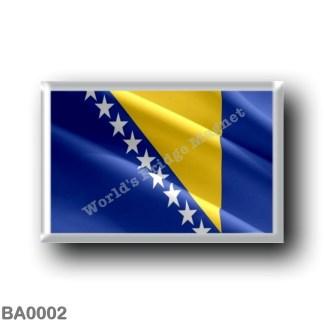 BA0002 Europe - Bosnia and Herzegovina - Flag Wavig