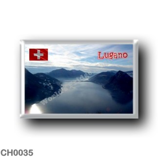 CH0035 Europe - Switzerland - Lugano - The view of Lake from Monte Brè