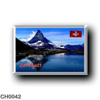 CH0042 Europe - Switzerland - Zermatt - Riffelsee with Matterhorn