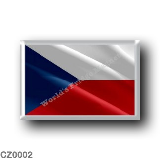 CZ0002 Europe - Czech Republic - Flag waving