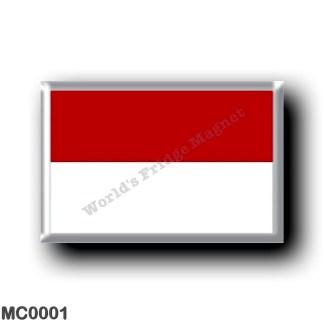 MC0001 Europe - Monaco - Flag