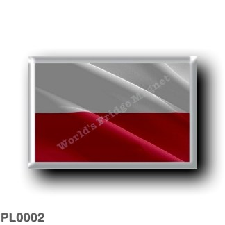 PL0002 Europe - Poland - Polish flag - waving
