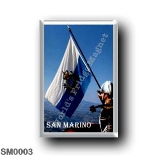 SM0003 Europe - San Marino - flag-raising