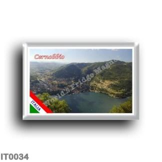 IT0034 Europe - Italy - Lombardy - Lake Como - Cernobbio - Panorama (flag)