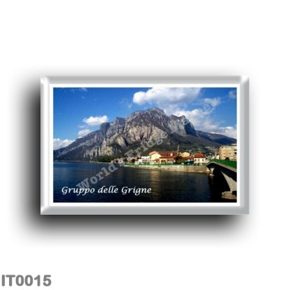 IT0015 Europe - Italy - Lombardy - Lake Como - Grigne Group seen from Lecco
