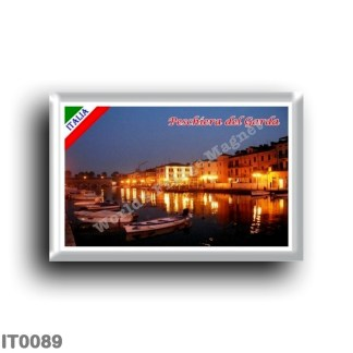 IT0089 Europe - Italy - Lake Garda - Peschiera del Garda (flag) - Panorama