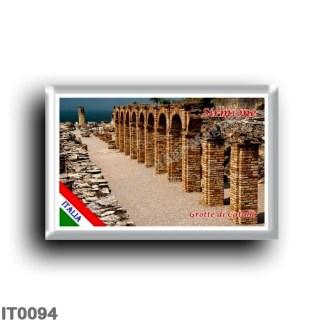 IT0094 Europe - Italy - Lake Garda - Sirmione (flag) - Grotte di Catullo